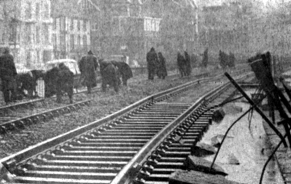 1962 rail workers repairing the tracks from the Paul Stanford collection