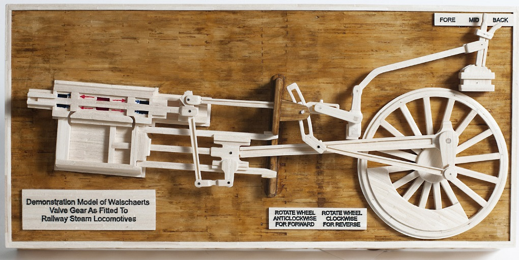 1 Demonstration Model of Walschaerts Valve Gear as Fitted to Steam Locomotives,  HM Prison Isle of Wight (Albany), Gold Award for Matchstick & Mixed Media Models koestler trust