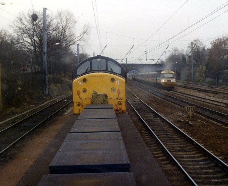 4 37602 and high speed train by Phil Marsh