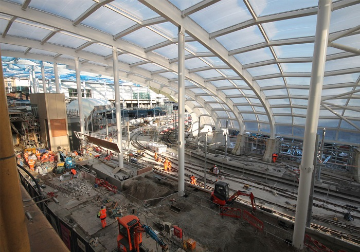 5 Manchester Victoria construction work by Network Rail
