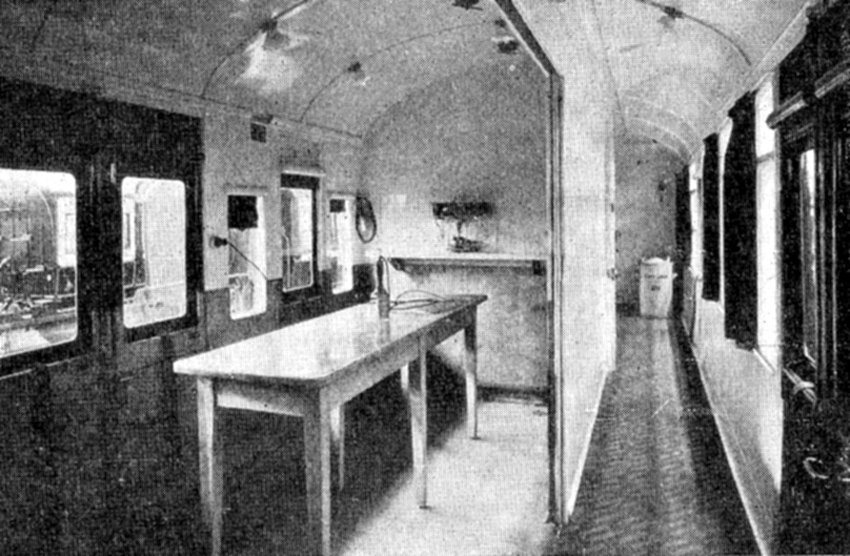 5 1915 Wolverton ambulance train treatment room Phil Marsh