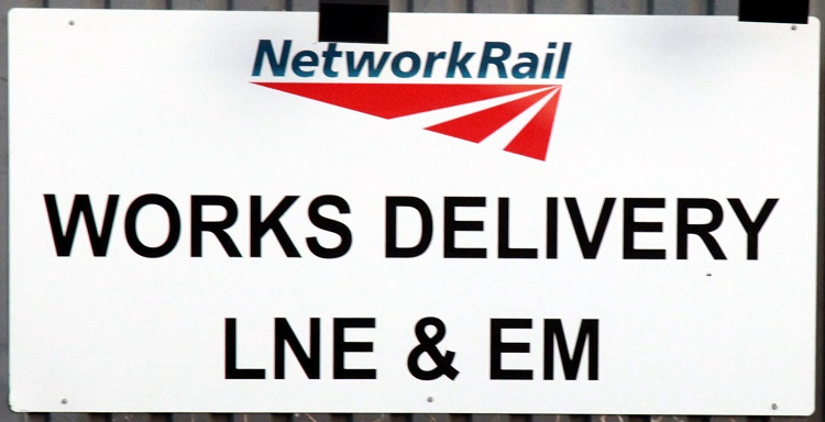 1 Network Rail delivery sign  by Phil Marsh