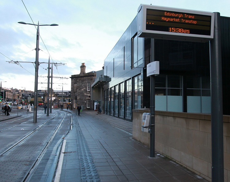 3 Edinburgh tram stop at Haymarket by Phil Marsh