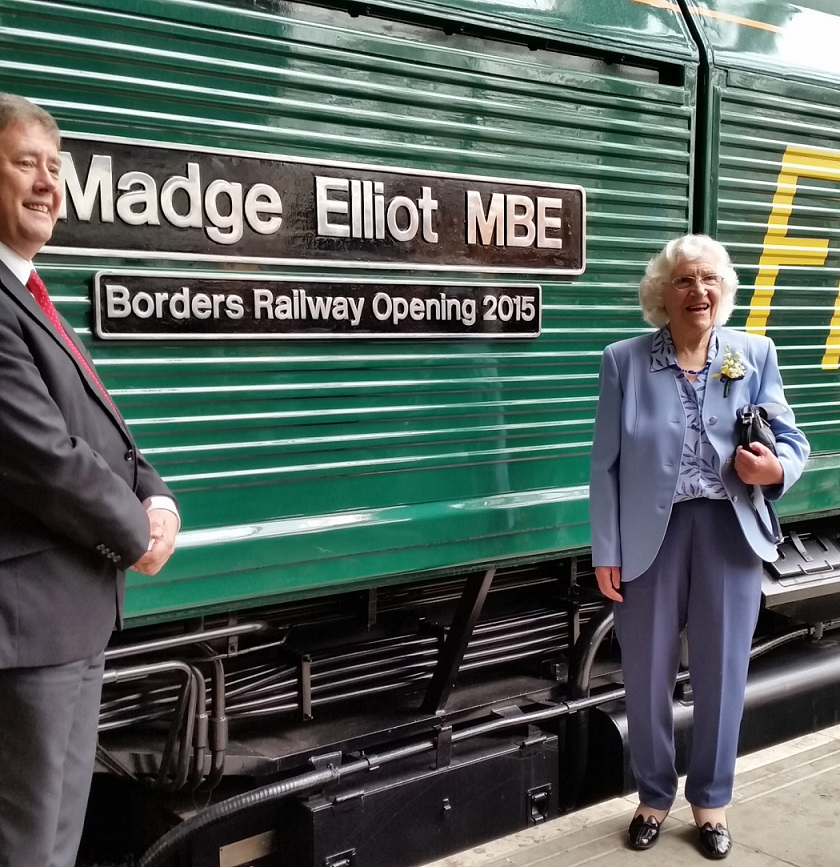 1 Madge Elliot names the engine by Allan McLean
