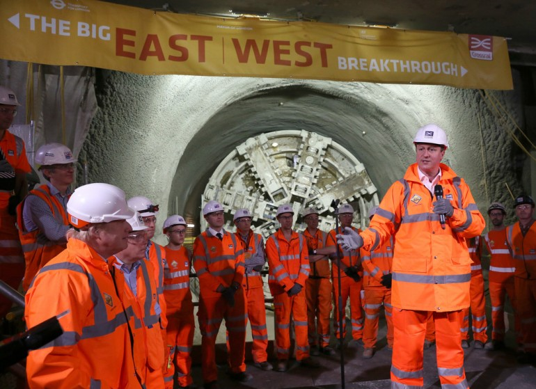 1 prime minister and mayor of london celebrate completion of crossrail tunnelling marathon courtesy of Crossrail