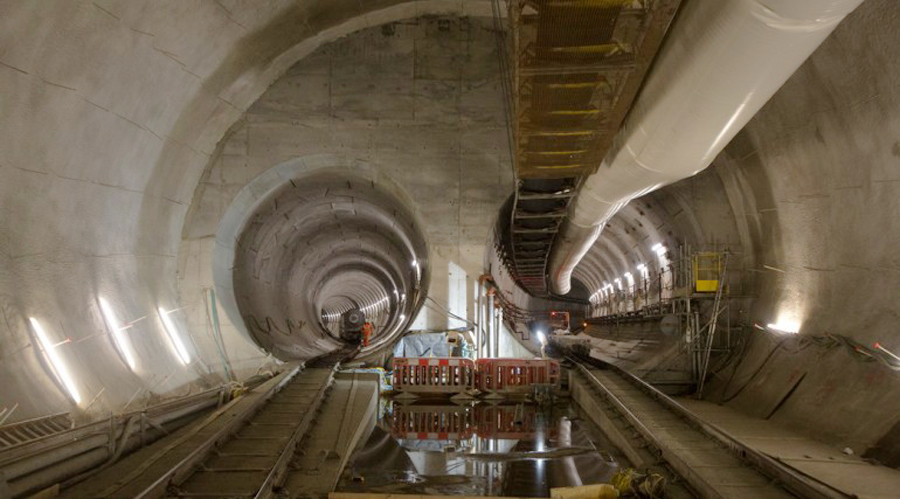 4 crossrail train tunnels crossover at whitechapel station courtesy of Crossrail
