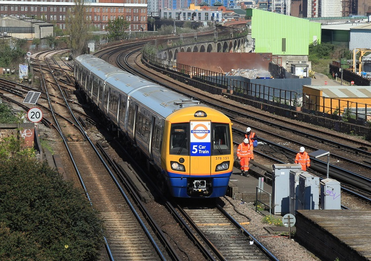 London Overground five car train by Phil Marsh