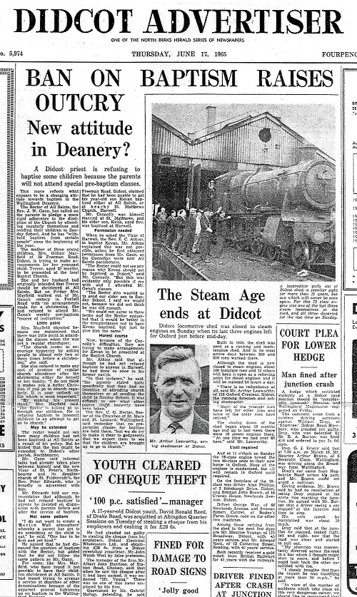 Didcot Advertiser 17 June 1965 Frank Dumbleton