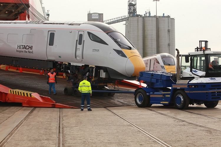 Hitachi trains arrive at Southampton by Phil Marsh