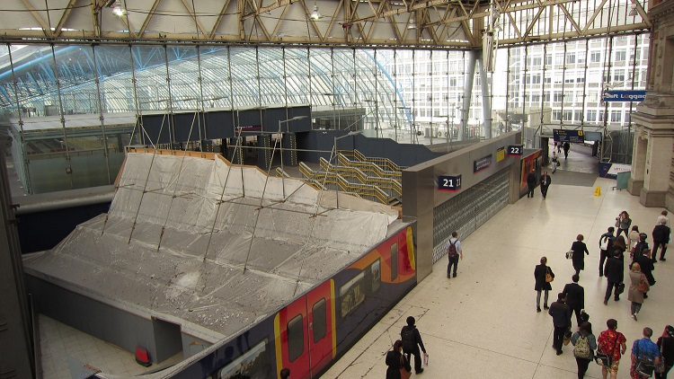 Waterloo International platform entrance by Phil Marsh