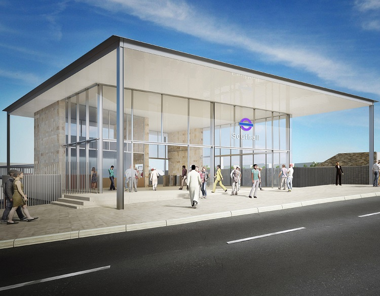2 Impression of the new Southall station building courtesy of Crossrail
