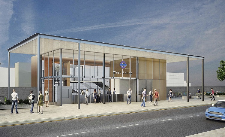 3 West Ealing Station architects impression courtesy of Crossrail