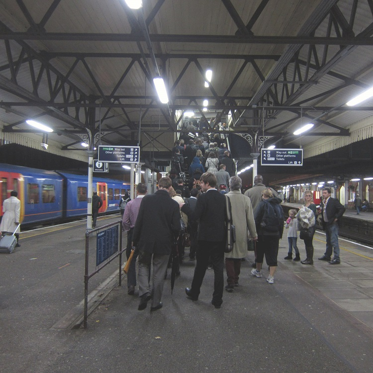 Homegoing SWT commuters by Phil Marsh