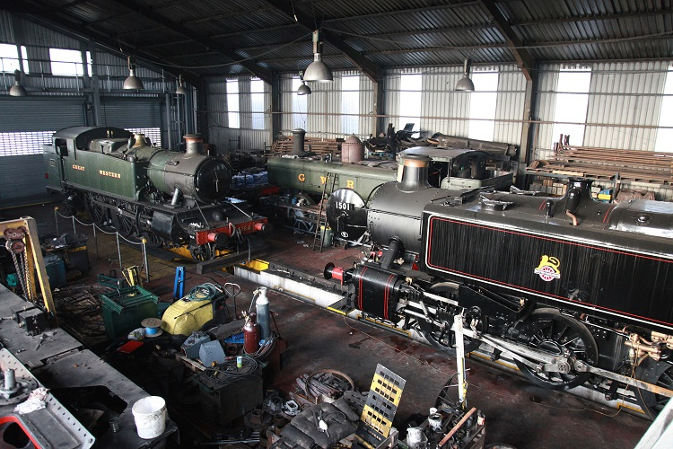 Inside Bridgnorth Shed by Phil Marsh