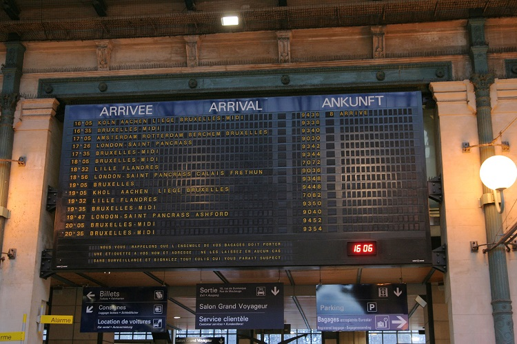Paris Nord departures by Phil Marsh
