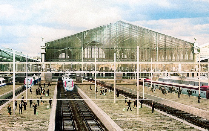 Artists impression of the Paris Nord transformation SNCF