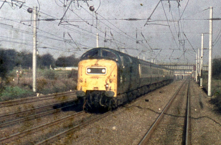 Drivers eye view of a Deltic in 1979 Phil Marsh collection