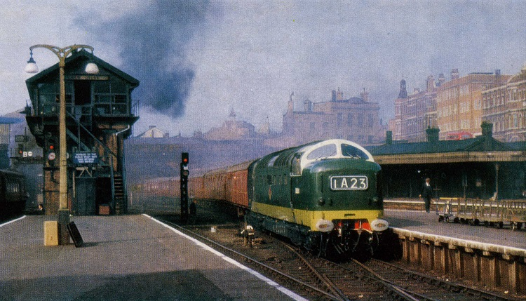 1961 kings Cross Deltic arrival Phil Marsh collection