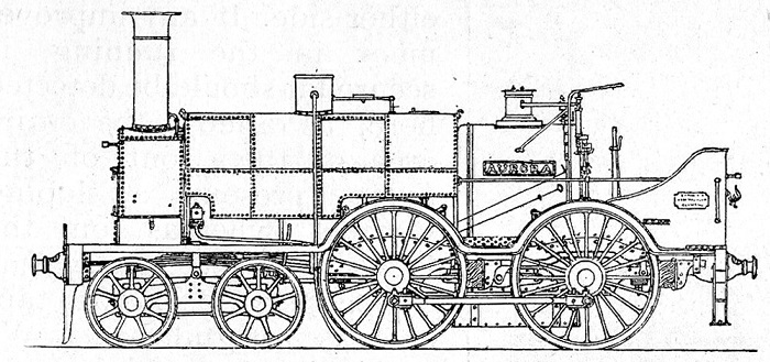 2 South Devon Railway Aurora built 1852 by Longridge Phil Marsh collection