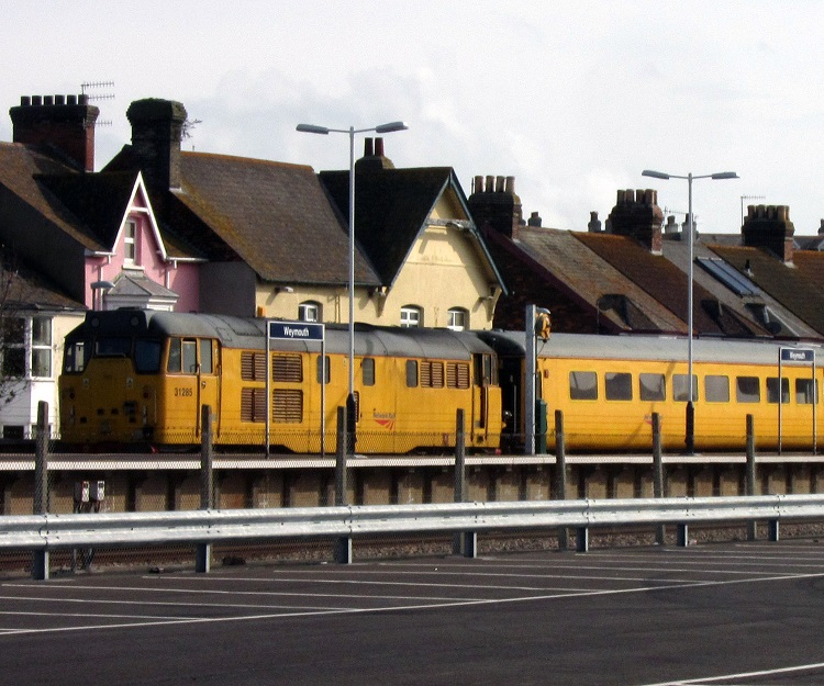 5 31285 on a track inspection train at weymouth Phil Marsh