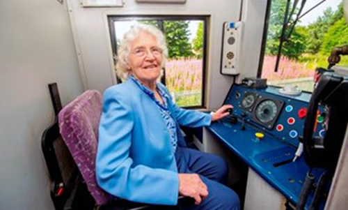 1 Madge Elliot first passenger on Borders Railway from Borders Railway