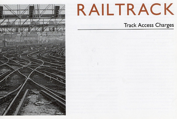 2 railtrack introduction track access charges Phil Marsh