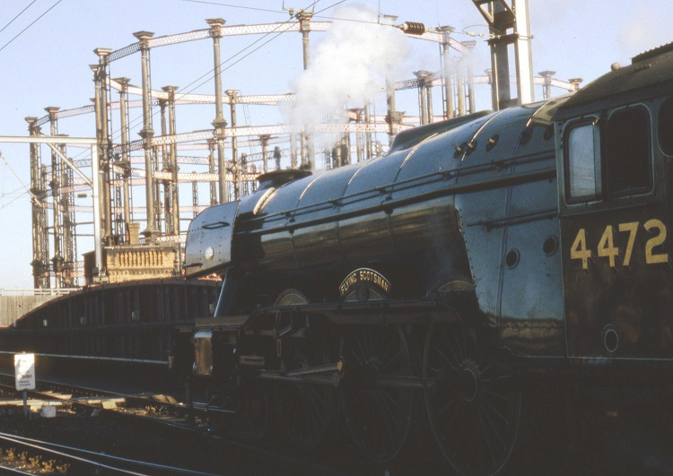 4 Flying Scotsman at St Pancras in 2000 by Phil Marsh
