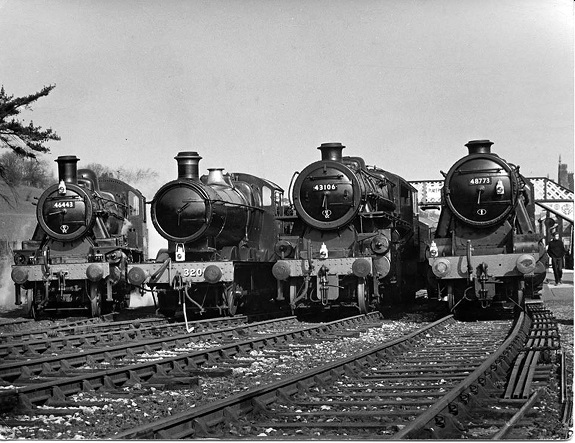3 Parade of locos at Bridgnorth 1969