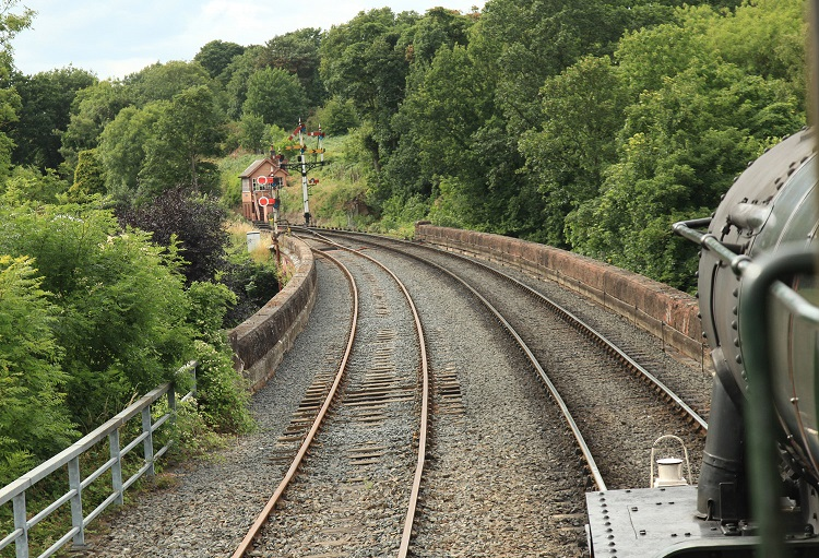 4 2015-07-21 stourport branch on LHS looking towards Bewdley Phil Marsh
