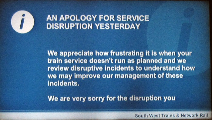 1 delay by Network Rail