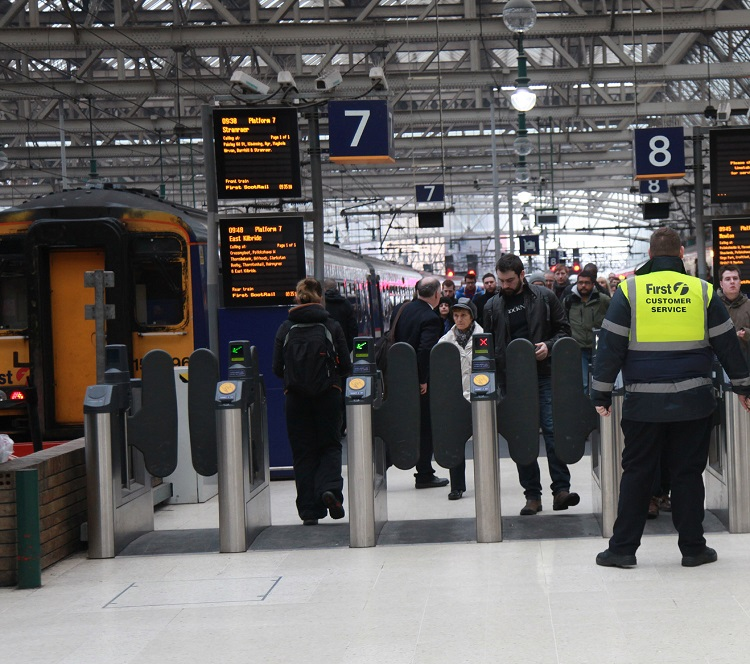2 First Scotrail passengers at Glasgow Queen Street Phil Marsh