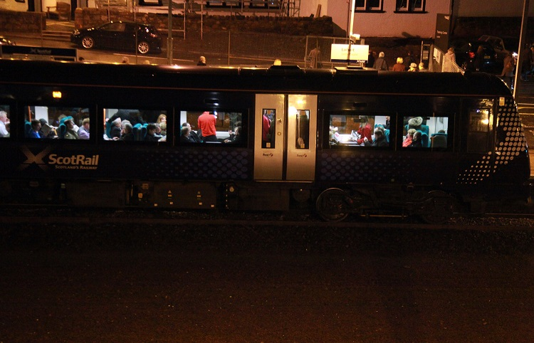 3 Crowded late night Glasgow to Edinburgh train by Phil Marsh