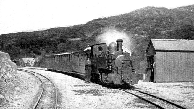 6 Beddgelert station and Russell in 1923 Phil Marsh collection