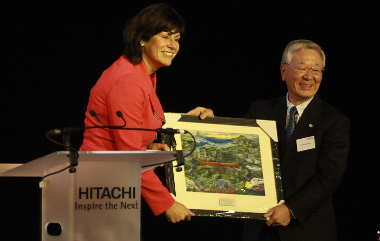 3 Exchange of gifts at the Hitachi opening by Phil Marsh