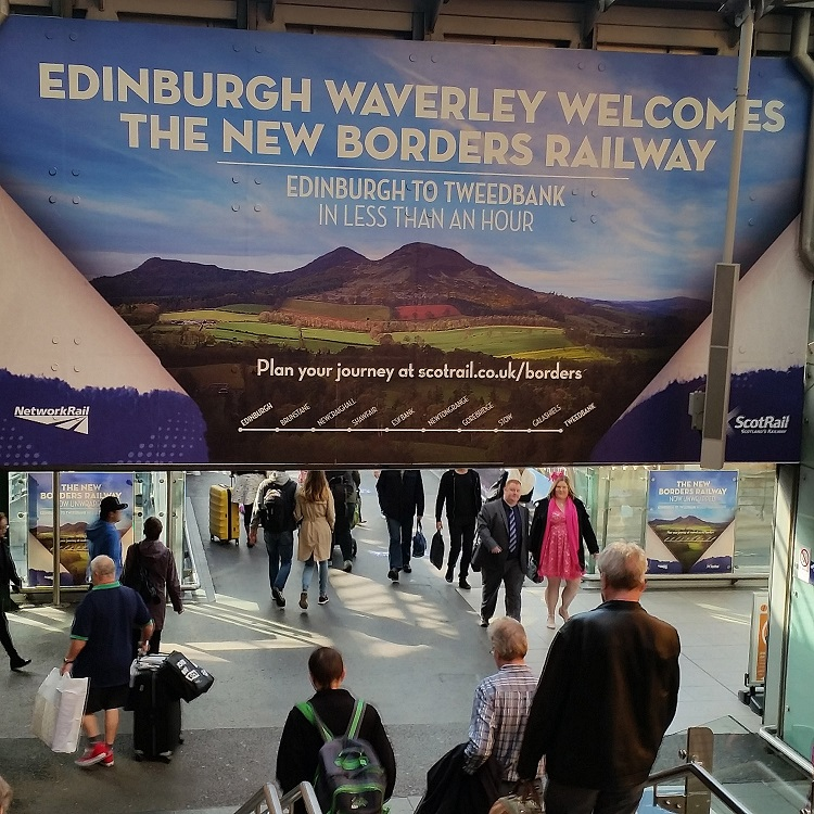 3 Borders Railway poster at edinburgh Allan Maclean