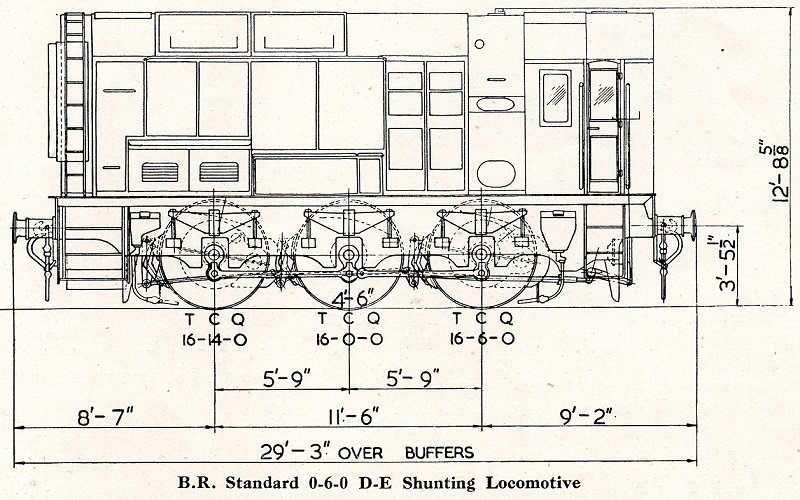 6 1953 general arrangement Class 08 drawing