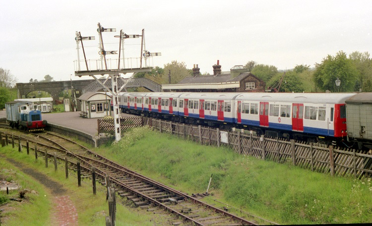 2 Tube train at threatened Quainton by Phil Marsh