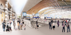 Proposed Euston concourse by HS2