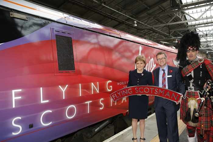 Virgin Flying Scotsman launch by Virgin