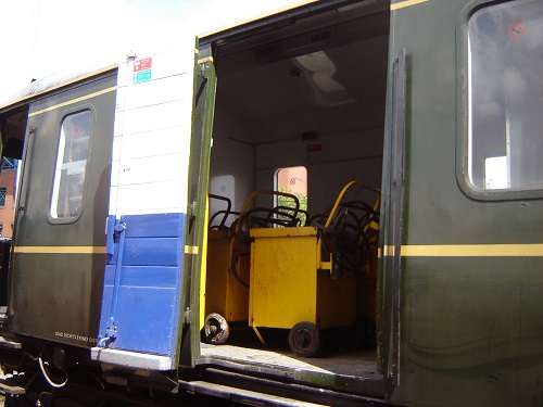 The battery chargers on Chiltern Bubble car 121034